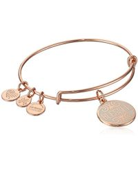 ALEX AND ANI - S Words Are Powerful, Blessed Ewb Bangle Bracelet, Shiny Rose, Expandable - Lyst