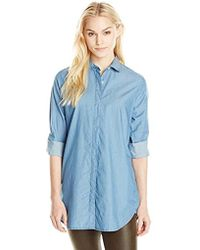 2b6f156f Lyst - M.I.H Jeans The Simple Shirt with Pocket in Blue