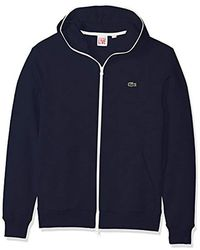 Lacoste - Unisex Fleece Full Zip Sweatshirt - Lyst