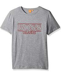 081ff8be6 BOSS Orange By Hugo Boss Typical 2 Large Graphic Logo Print T-shirt ...