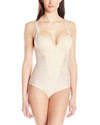 Joan Vass - Molded Cup Lace Bodysuit - Lyst