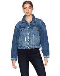bed76cbb1103 Hudson Jeans X Baja East Coco Velvet Jacket in Blue - Lyst
