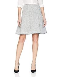 Ellen Tracy - Seamed Flare Skirt - Lyst