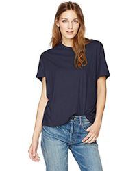 Vince - S/s Rib Back Tee - Lyst