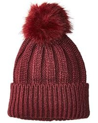 French Connection - Pom Beanie - Lyst