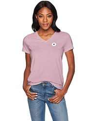 Converse - Chuck Patch Short Sleeve V Neck T-shirt, - Lyst