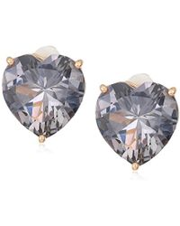 T Tahari - Uptown Jewels Rsg Bdi Heart Stud Clip-on Earrings, Color: Rose Gold, One Size - Lyst