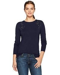 Ivanka Trump - Embellished Crew Neck Sweater - Lyst