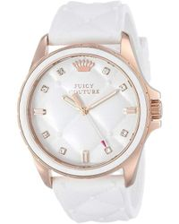 Juicy Couture - 1901102 Stella White Quilted Silicone Dial Watch - Lyst
