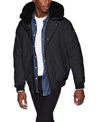 Sean John - Ultra Warm Bomber Jacket With Sherpa Trim Hood - Lyst