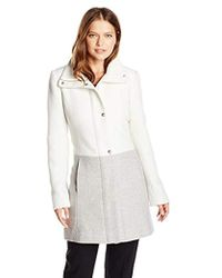 Jessica Simpson - Color-block Wool Coat - Lyst