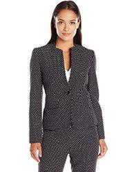 Kasper - Petite Size Dot Jacquard 1 Button Jacket - Lyst