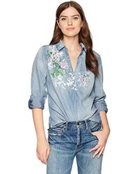 Bandolino - Franny Pull Over Shirt With Roll Sleeves - Lyst