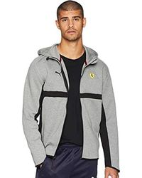 5386330fd30a Lyst - PUMA Ferrari Lifestyle Hooded Sweat Jacket in Black for Men