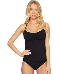 Laundry by Shelli Segal - Solid Cinched Front Underwire Tankini - Lyst