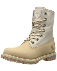 Timberland - Earthkeepers Authentics Leather-and-canvas Fold-down Boot - Lyst