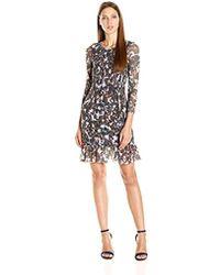 Twelfth Street Cynthia Vincent - Smocked Dress W/flounce - Lyst
