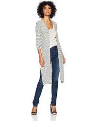 Three Dots - Hyannis Stripe Loose Long Cardigan - Lyst