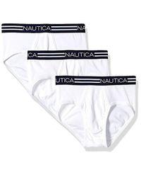 Nautica - Comfort Cotton Underwear Fly Front Brief-multi Pack - Lyst