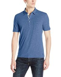 Lyst - Original Penguin  bing  Trim Fit Cotton Jersey Polo in Pink ... 537b28c2b1963