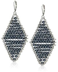 Kenneth Cole - Woven Blue Faceted Bead Kite Drop Earrings, One Size - Lyst