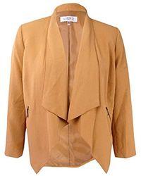 Kasper - Plus Size Flyaway Zipper Detail Jacket - Lyst