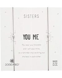 Dogeared - Sisters, Sparkle Ball On Pebble Cord Bracelet, Set Of 2, 0.925 Sterling Silver, Adjustable - Lyst