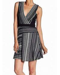 cfc1da555c92d BCBGMAXAZRIA Katriz Feather Lace Dress in Black - Lyst