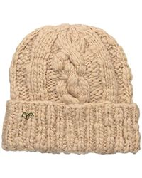 Cole Haan - Chunky Cable Cuff Hat - Lyst