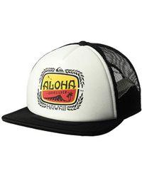Quiksilver - Hi Aloha Breezin Trucker Adjustable Hats - Lyst 8cde364a0d7a