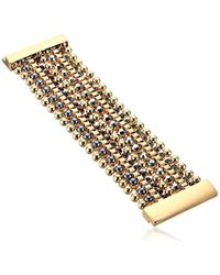 """Kenneth Cole - """"bond And Burgundy"""" Mixed Faceted Stone Multi Row Bracelet - Lyst"""