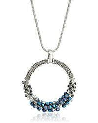 """Kenneth Cole - """"hematite Items Hematite And Tonal Beaded Pendant Necklace - Lyst"""