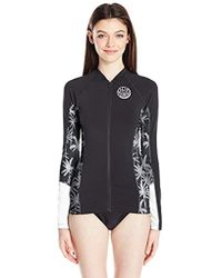 Rip Curl - Trestles Long Sleve Front Zip 50+ Upf Sun Protection Rash Guard - Lyst