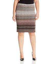 Rafaella - Plus Size Gradient Texture Printed Skirt - Lyst