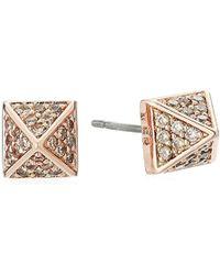 Eddie Borgo - Pave Pyramid Stud Earrings - Lyst