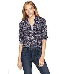 719e337df6 The Kooples Crepe And Fancy Lace Blouse in Black - Lyst