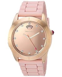 Juicy Couture - Connect' Quartz Silicone Smart Watch, Color:rose Gold-toned (model: 1901546) - Lyst