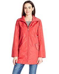Ellen Tracy - Outerwear Packable Rain Coat - Lyst