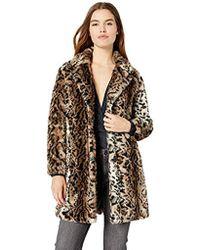 df1990c44576f Lyst - BB Dakota Bradshaw Leopard Faux Fur Coat in Brown