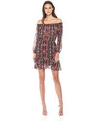 BB Dakota - Sienna Printed Off The Shoulder Dress - Lyst