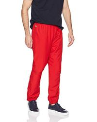 Lacoste - Sport Taffetta Pant With Side Zip Detail, Xh120t - Lyst