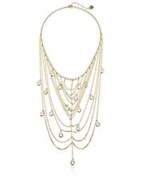 """Laundry by Shelli Segal - Multi-chain Frontal Necklace, 16"""" + 3"""" Extender - Lyst"""