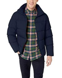 bdb5d5386ea7e Lyst - Lacoste Motion Concealed Hood Quilted Jacket in Blue for Men