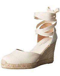 c2f9ee50dd8 Lyst - Soludos Tall (90mm) Wedge Sandal in Gray