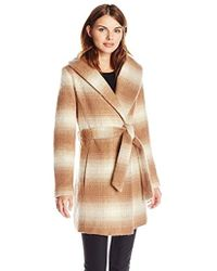 Jessica Simpson - Mohair Wool Plaid Wrap Coat - Lyst