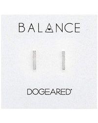 Dogeared - Balance Flat Bar Stud Earrings - Lyst