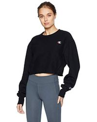 Champion - Reverse Weave Cropped Cut Off Crew - Lyst