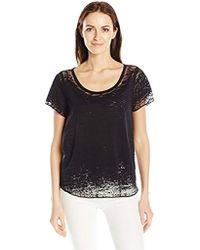 Guess - Short Sleeve Waves Burnout T-shirt - Lyst
