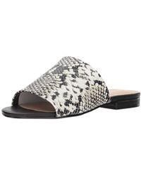 0744e8f147a Lyst - ALDO Yulia Flat Open Toed Sandals in White