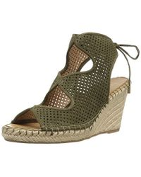 fed39fe989a1 Lyst - Franco Sarto Mariska Espadrille Wedge Sandal in Metallic ...